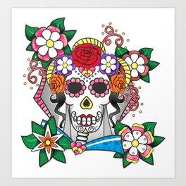 La Novia Muerta Art Print