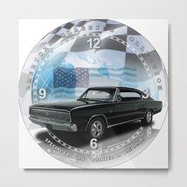 "1966 Dodge Charger Decorative 10"" Wall Clock (016ac) Metal Print"