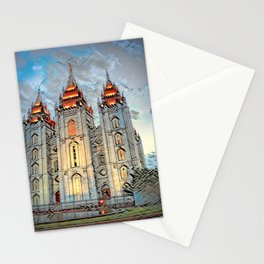 Mormon Temple - Salt Lake City Stationery Cards
