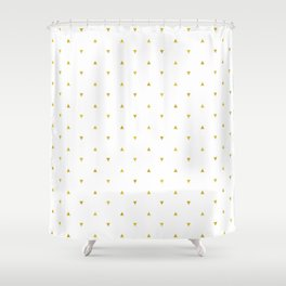 Gold Triangles Pattern Shower Curtain
