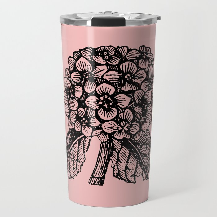 Pink Hydrangea Travel Mug