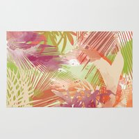 tropical Area & Throw Rugs featuring Tropical by Grace