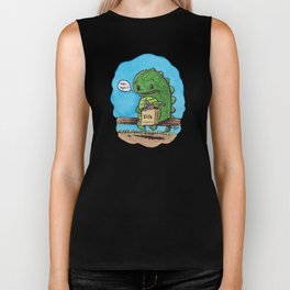 """lunch in the city"" Biker Tank"