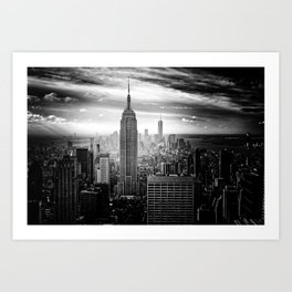 New york city black white 2 Art Print