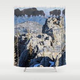 Pte Oyate at Blak Elks Peak Shower Curtain