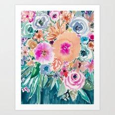 SMELLS LIKE FEMME RECLAMATION Floral Art Print