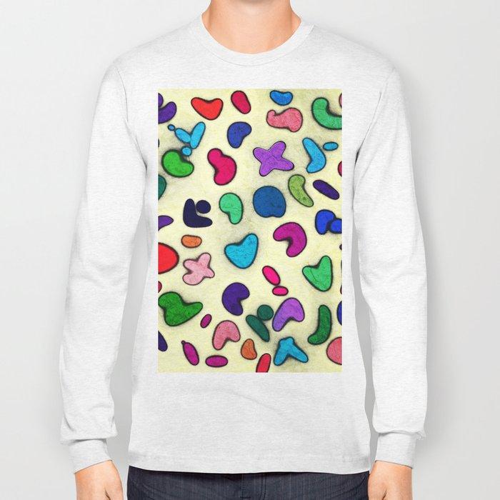 Seamless Colorful Geometric Pattern XXIX Long Sleeve T-shirt