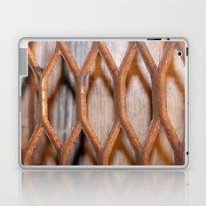 Rusted Steel Faded Wood Laptop & iPad Skin
