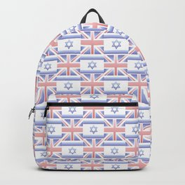 Mix of flag : Israel and uk 2 with color gradient Backpack