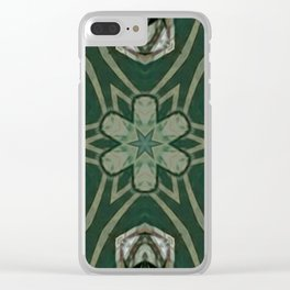 The Green Unsharp Mandala 4 Clear iPhone Case