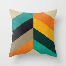 Minimalist and colorful chevron Throw Pillow