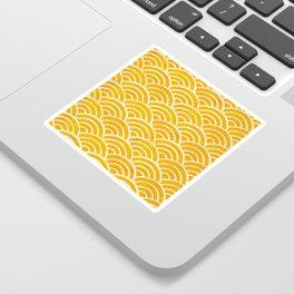 Japanese Seigaiha Wave – Marigold Palette Sticker