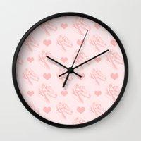 feminism Wall Clocks featuring Jurassic feminism by kate gabrielle