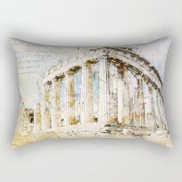 Acropolis, Athens Greece Rectangular Pillow