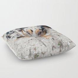 Australian Shepherd Floor Pillow