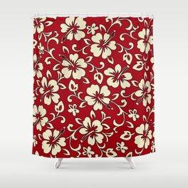 Malia Hawaiian Hibiscus Aloha Shirt Print Shower Curtain