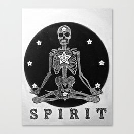 Meditating skelton Canvas Print