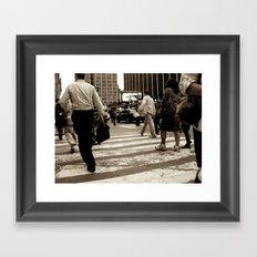 New York City _Rush hour Framed Art Print