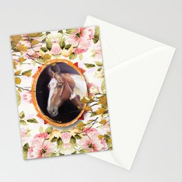 Paint Horse in the Botanical Garden Stationery Cards