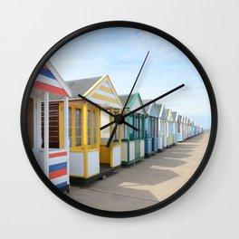 Beach Huts Wall Clock