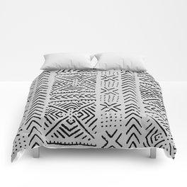 Line Mud Cloth // Light Grey Comforters