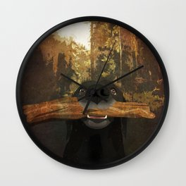 Playful Labrador Wall Clock