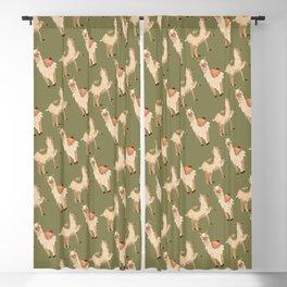 Funny Llama Alpaca Lama Pattern Gift Blackout Curtain