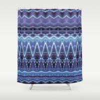 constellation Shower Curtains featuring Constellation by Zandonai Pattern Designs