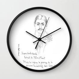 Marcel Proust portrait Wall Clock