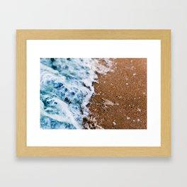 Macro Wave Crashing Framed Art Print