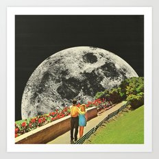 Moonwalk love Art Print