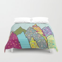Mountains of Patterns Duvet Cover