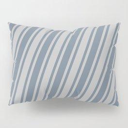 Slate Gray & Lighter Grey Colored Pattern of Stripes Pillow Sham