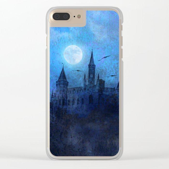 Mystical castle Clear iPhone Case
