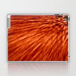 Burnt Orange Pixel Wind Laptop & iPad Skin