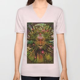 """"""" The nature acts, the man makes. """" Unisex V-Neck"""