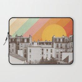 Rainbow Sky Above Paris Laptop Sleeve