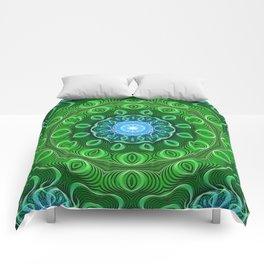 Cell Growth Mandala Comforters