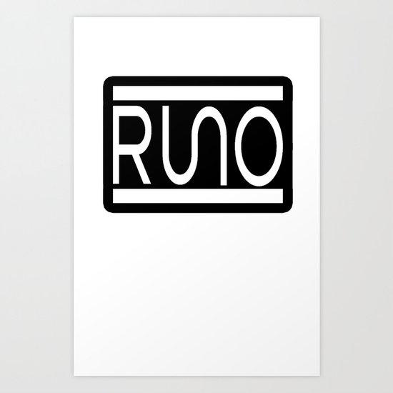 RUNO Bordered Design Art Print