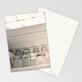 Vintage Jars in a White Kitchen Stationery Cards