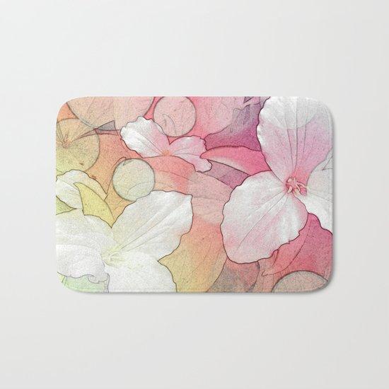 Trillium flowers Bath Mat