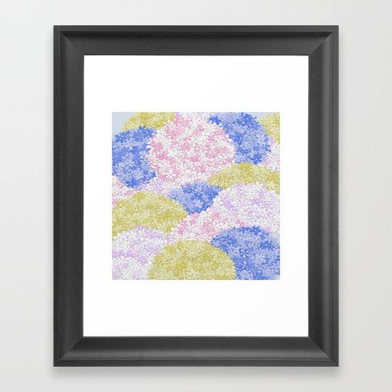 Fields Of Hydrangeas Framed Art Print