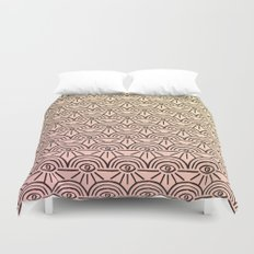 Rainbow Eyes Pink and Yellow Duvet Cover