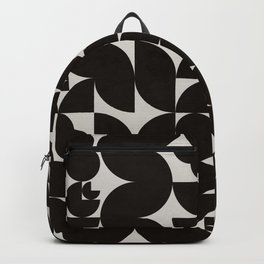 Black & White Mid Century Modern Pattern Backpack