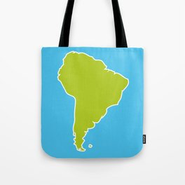 South America map blue ocean and green continent. Vector illustration Tote Bag