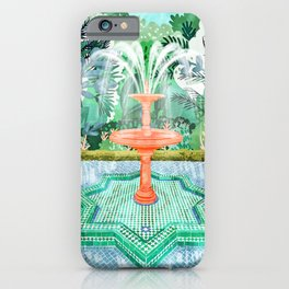 The Fountain Of Life #painting #nature iPhone Case