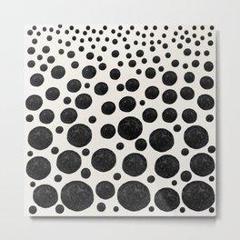 BNW Agatized Coral Dots Metal Print