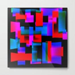 slight blur, red and blue blocks Metal Print