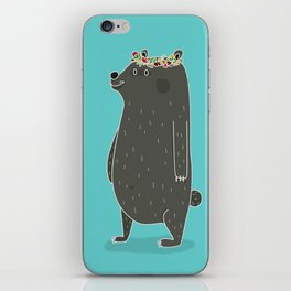 L'ours couronné iPhone Skin