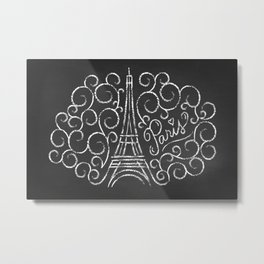 Paris Sketch Metal Print